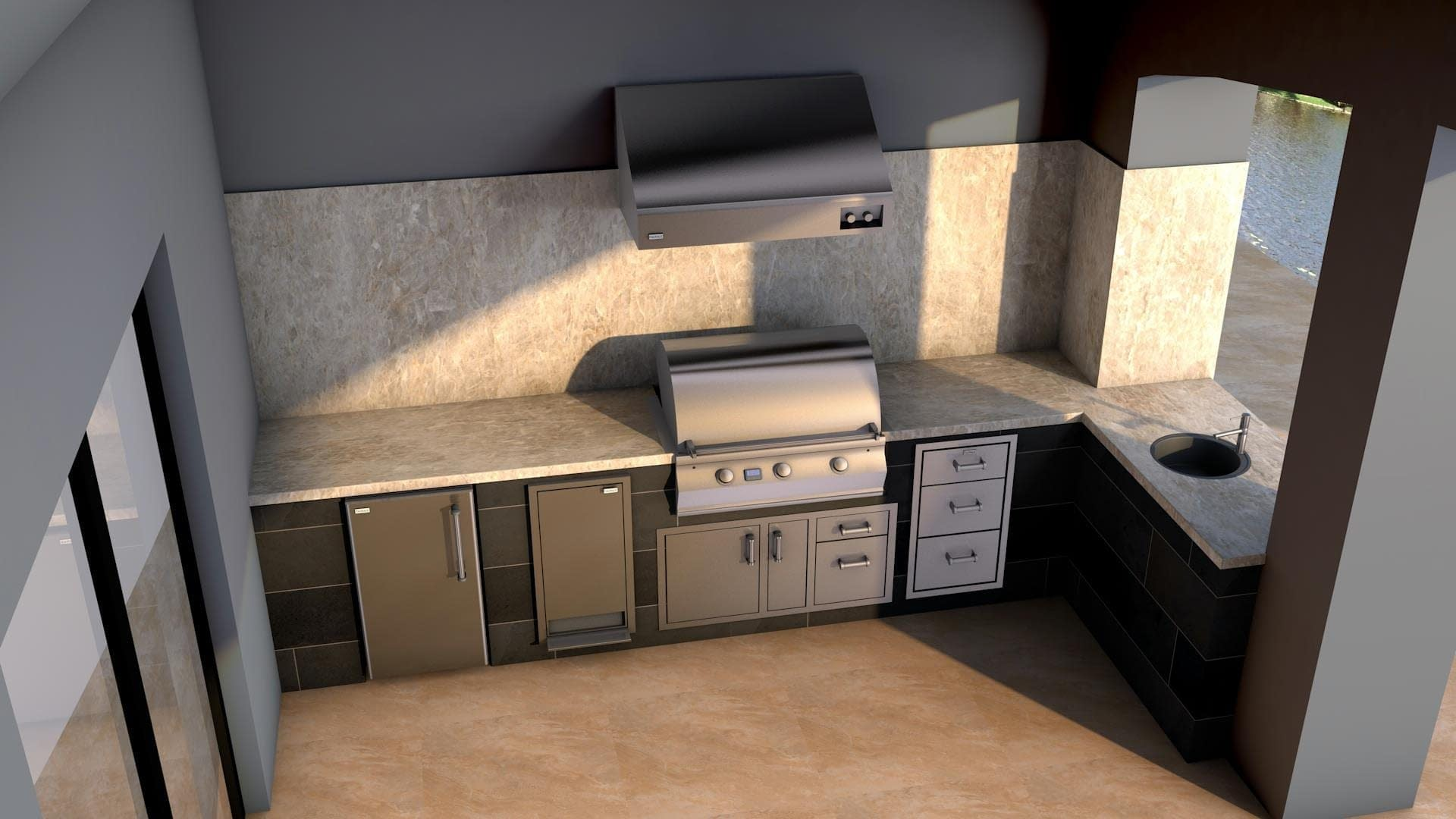 Beautiful Outdoor Kitchen Design