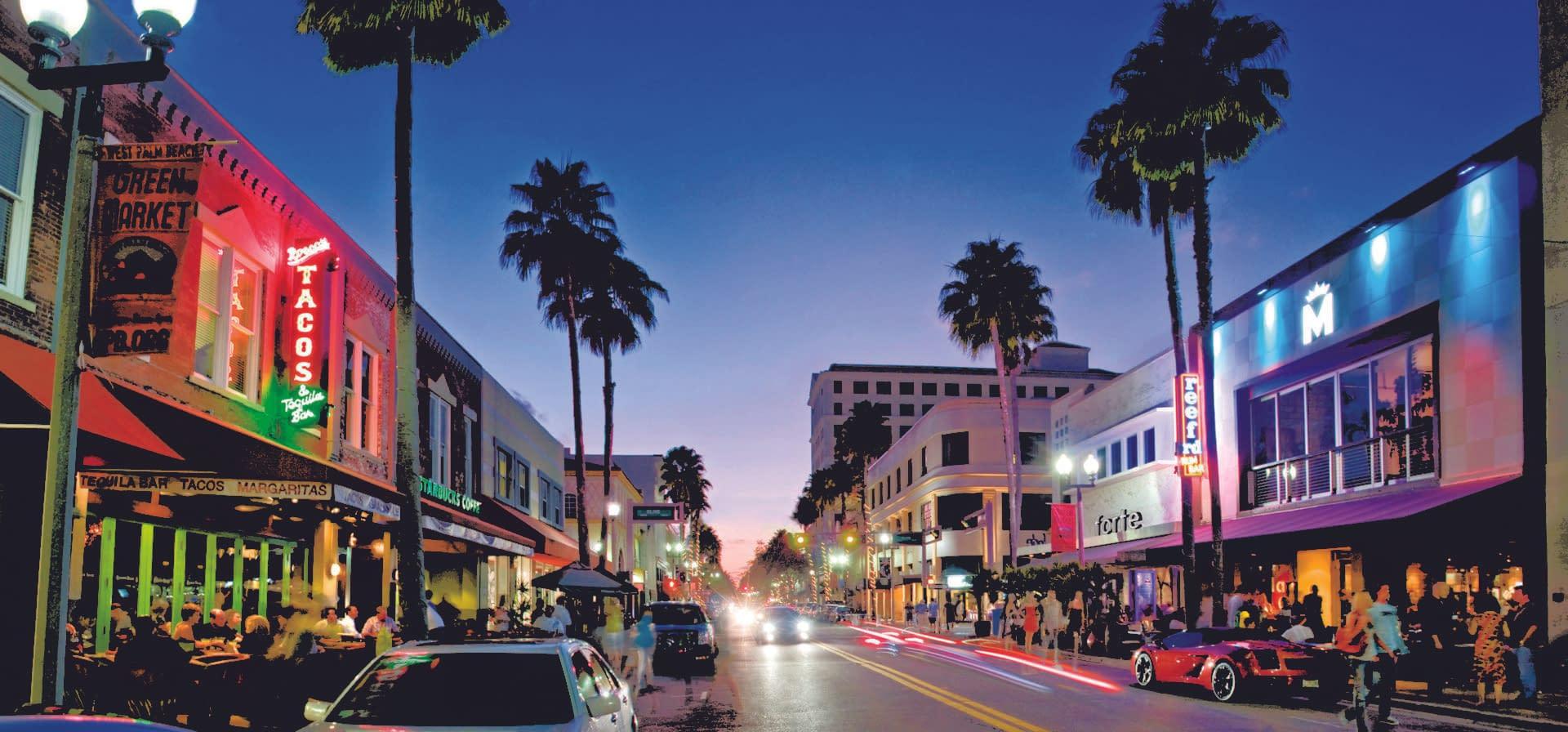 Image Of Down Town Palm Beach FL