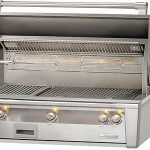 Outdoor BBQ Grill With Searzone Liquid Propane Stainless Steel