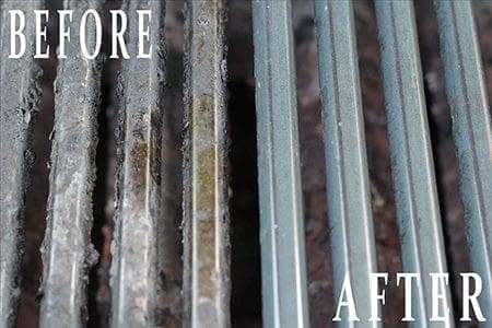 Before and After BBQ Grill Cleaning Grates