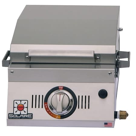 1 Solaire All About Single Burner Portable Infrared Grill open