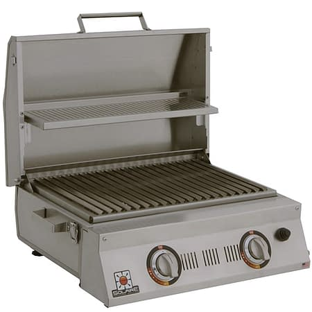 Solaire Double Burner Portable Infrared Grill open