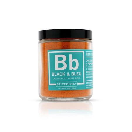 spiceology black bleu rub glass jar glass jars 43 oz