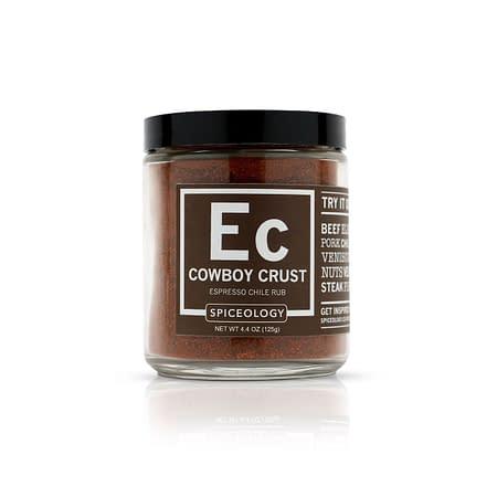 spiceology cowboy crust espresso chile rub glass jar glass jars 44 oz
