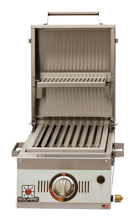 Single Burner Portable Infrared Grill Open